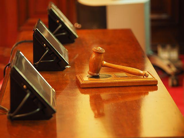 gavel inside a courtroom
