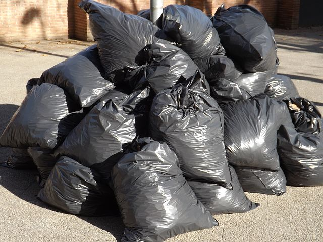 garbage bags full of garbage